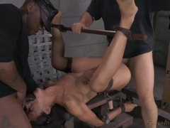 Spreader bar and bondage makes her easy to fuck movies at kilosex.com