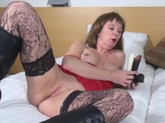Mom fucks her dildos and gets super wet videos