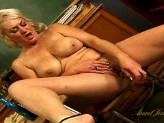 Naked teacher oils her tits and toys her vagina videos