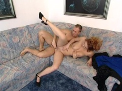 Curly redhead nailed in the pussy and ass movies at kilotop.com