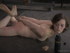 Hogtied slave eats food off the floor on command videos