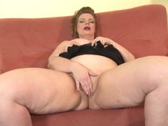 Big belly mature plumper plays with her tight cunt videos