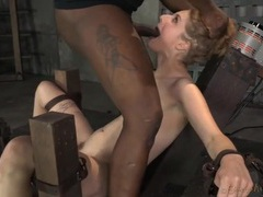 Her masters take turns face fucking a bound girl videos