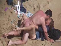 Kissing and fucking his sexy wife on the beach movies at sgirls.net