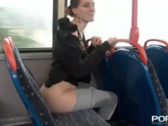Flashing and peeing in public turns this hottie on videos