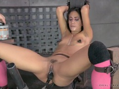 Sloppy face fucking and toy banging with a bound slut movies at kilotop.com