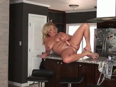 Naked mature housewife masturbates in her kitchen movies at dailyadult.info