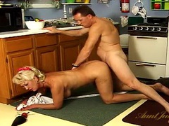 He fucks a big tits housewife from behind videos