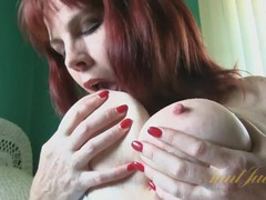 Mature redhead cinna page sucks her tits and masturbates videos