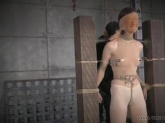 Skinny girl submits to bondage and pain videos