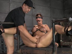 Sub slave in bondage gets filled with cum videos