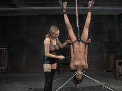 Punished black girl hangs upside down in the dungeon videos