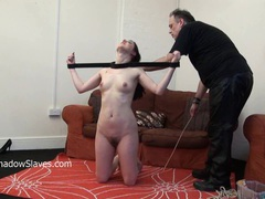 Tied slave honesty cabellero whipped movies at freekiloclips.com