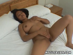 Big natural asian tits are sexy on the solo girl tubes at sgirls.net