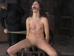 Light caning makes the girl cry out in pain videos