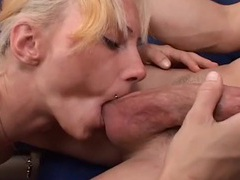 Nut licking and good head from a tattooed milf videos