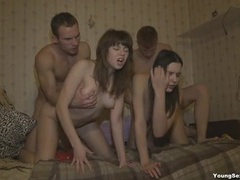Sluts on their hands and knees next to each other for dick movies at freekilomovies.com