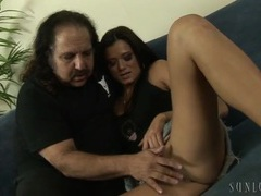 Ron jeremy watches a skinny cutie get naked for him videos