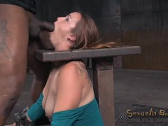 Guys take turns face fucking a bound girl movies at kilotop.com