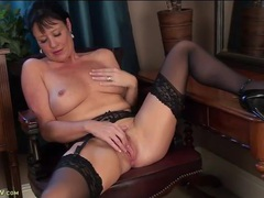 Classy milf beauty in black stockings rubs her hot cunt movies at find-best-videos.com