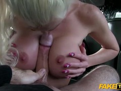 Blonde stunner fucked in the butt in his car videos
