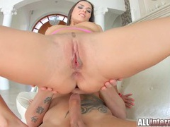 Double penetrated mea melone gets two creampies videos