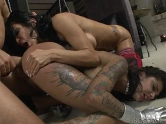 Filthy sluts smile during rough sex with rocci siffredi movies