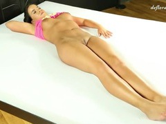 Curvy first timer shows her tits and pussy movies at kilopics.net