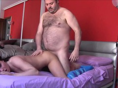 Young pussy gets a creampie from the fat guy movies at freekiloclips.com