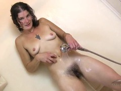 Hairy legs and armpits babe gets clean in the shower movies at find-best-hardcore.com
