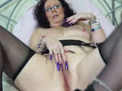 Crazy long fingernails on a masturbating old lady videos