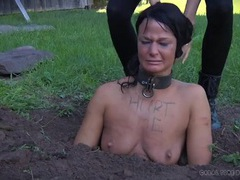 Collared girl buried in the dirt and humiliated videos