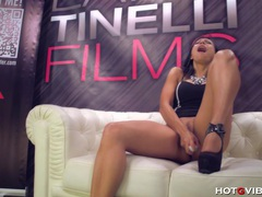 Latin seductress squirts all over videos