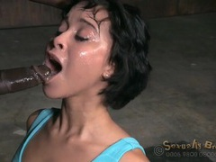 Slut with bound hands face fucked by two guys videos