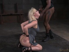 Chained blonde in a dress fucked like a sex slave movies