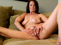 Classy milf confidenty strips and teases her body videos