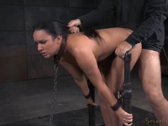 Collared and chained girl fucked like a sex slave videos