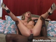 Black dick in the slutty asshole of a white girl videos