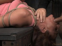 Naughty sex slave in bondage swallows dicks movies at kilotop.com