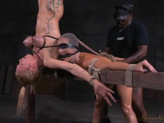 Two slaves in the dungeon used hard by masters videos