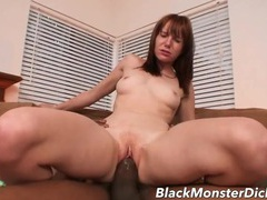 Redhead stretched out by a gigantic black dick videos