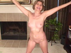 Fit and chatty mature is proud of her amazing body clip