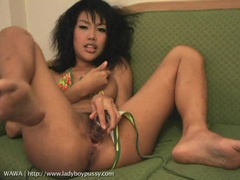 Glass toy fucks her lovely new ladyboy pussy movies at kilotop.com