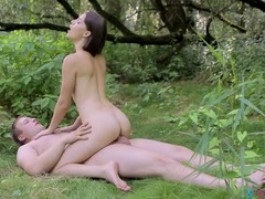 Nymph and her man make love in the woods videos