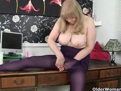 British milf lulu makes mondays at the office more enjoyable videos