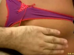 Sexy grinding lap dance from an amateur in panties tubes