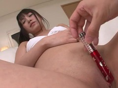 Toys and fingers turn on her shaved japanese cunt videos