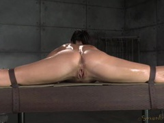 Skillfully bound girl with a lean body fucked by two guys movies at find-best-lesbians.com