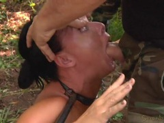 Sex slaves bound in the woods and used for pleasure videos
