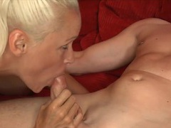 Lustily kissing a tight blonde and fucking her erotically videos